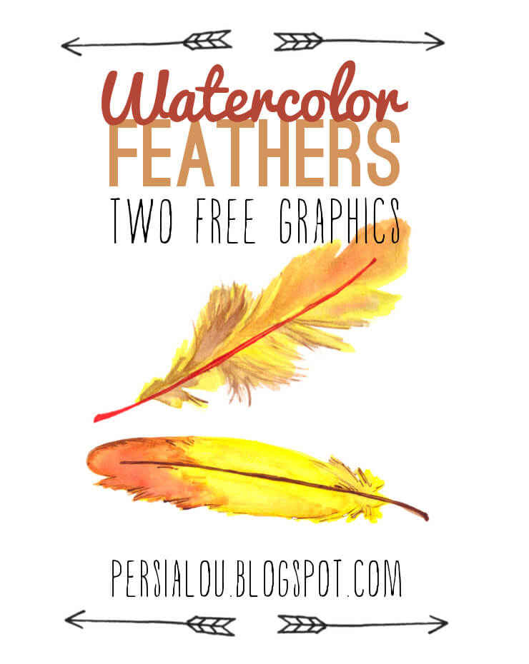 watercolor feather downloads
