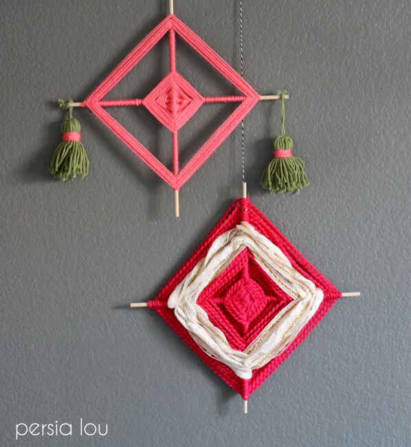 god's eye crafts make a fun crafty wall hanging