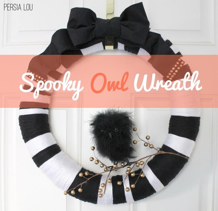 spooky owl wreath