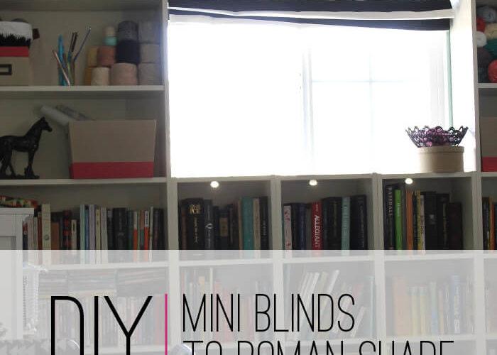 DIY Mini Blinds to Roman Shade