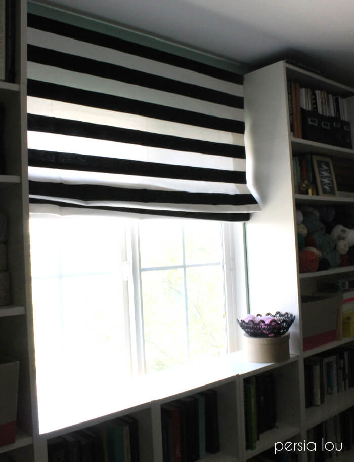 most of the time iu0027m a fan of curtains but some windows need something a bit smaller since this window is framed by bookshelves a shade works perfectly