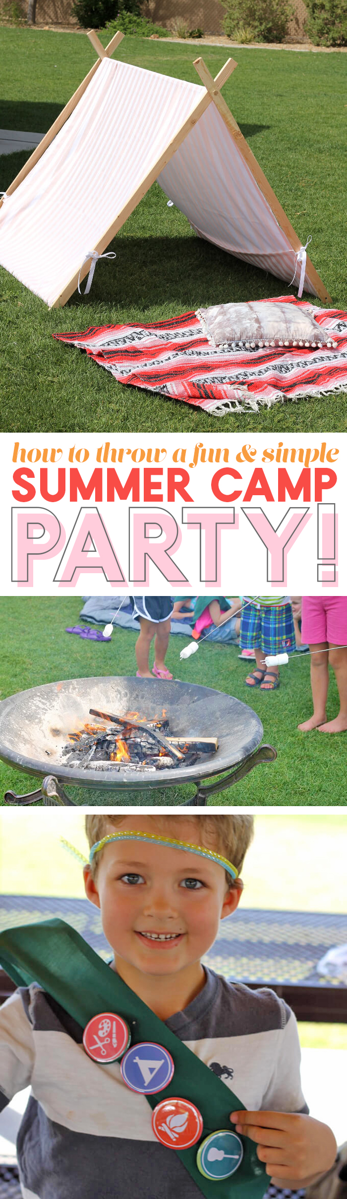 how to throw a fun and simple summer camp party