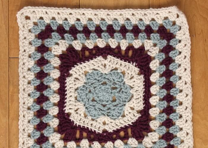 Framed Hexagon Afghan Square Pattern – Day One of The Blog Hop Crochet Along