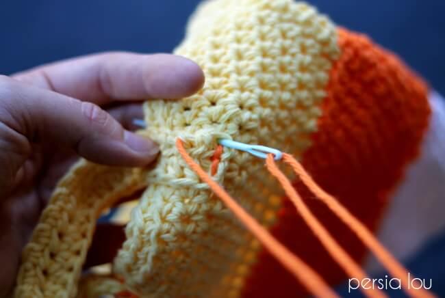 Halloween Crochet Pattern Candy Corn Trick Or Treat Bag Persia Lou