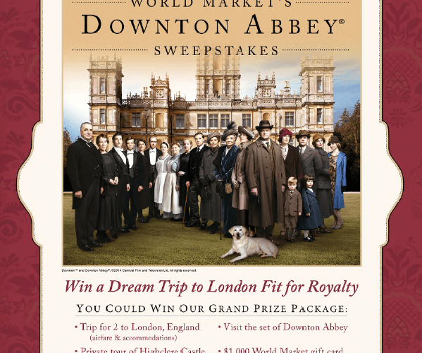Downton Abbey and World Market Black Friday Giveaways, Sweepstakes, and Virtual Tea Party
