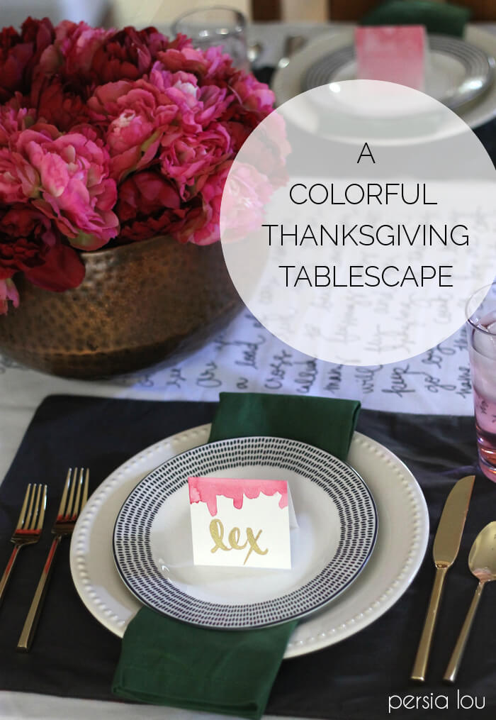 Thanksgiving Tablecloth And Tablescape Blog Hop Persia Lou - Thanksgiving-table-cloth