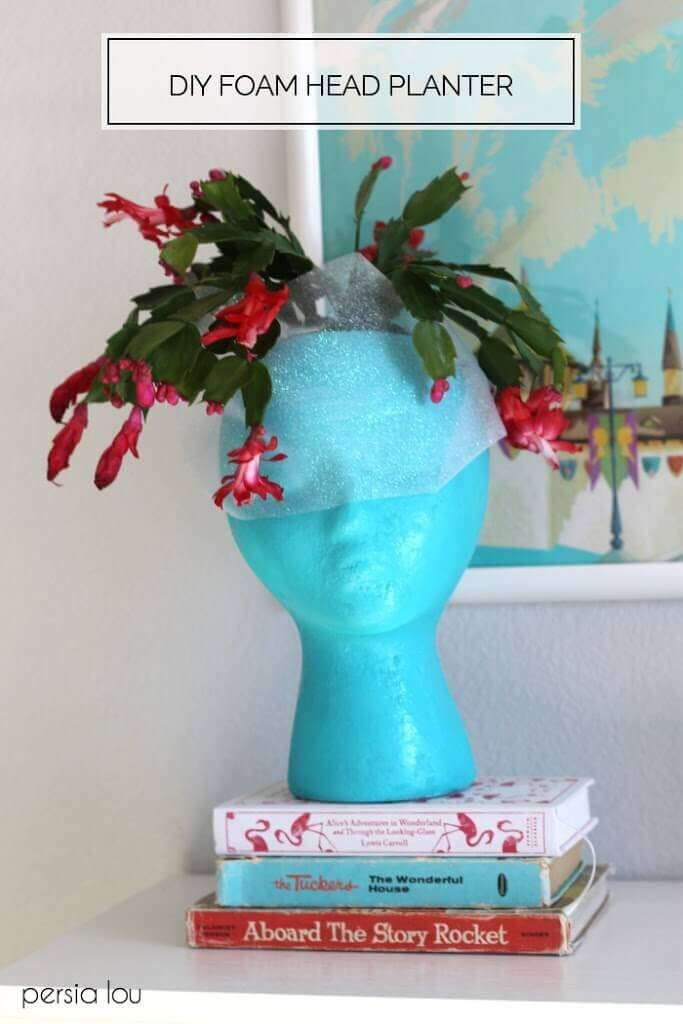 DIY Foam Head Planter