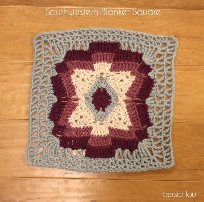 Southwestern Blanket Square Pattern Persia Lou