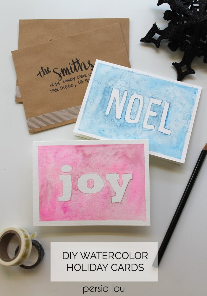 Homemade Watercolor Christmas Cards at Darice - Persia Lou