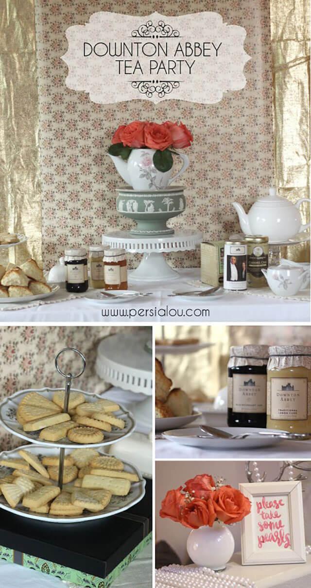 a downton abbey tea party