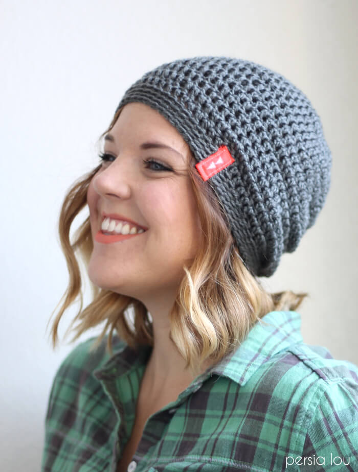 ba1c34ad0ba Simple Slouch Crochet Hat - a great free beginner pattern