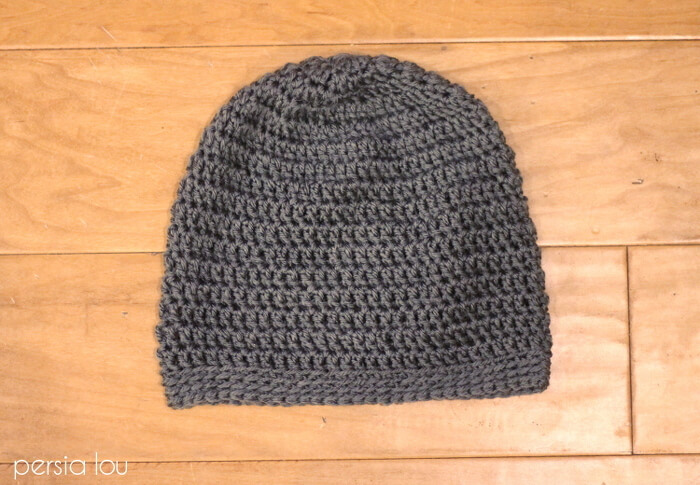 a615dd825d8 Simple Slouch Crochet Hat - a great free beginner pattern