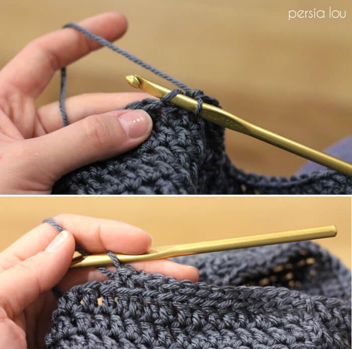 Simple Slouch Crochet Hat - a great free beginner pattern ee9b398ebe2