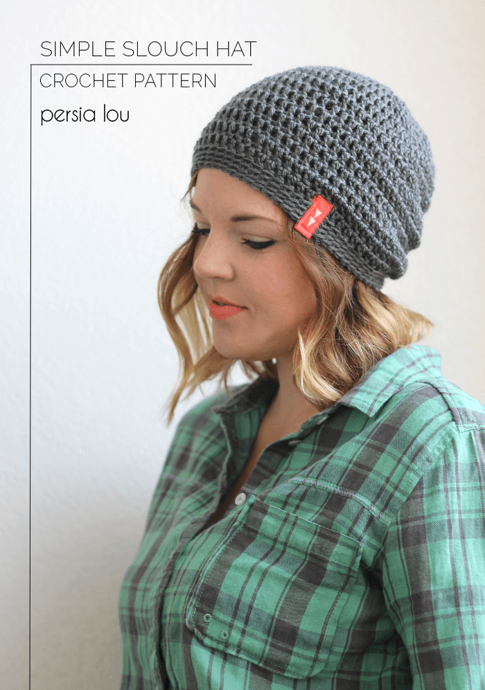 afeffb40d37 Simple Slouch Crochet Hat - a great free beginner pattern