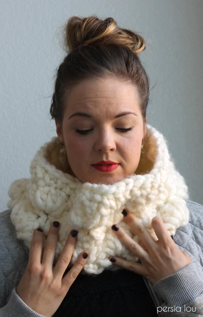 Super Duper Chunky Crochet Cowl Pattern Persia Lou