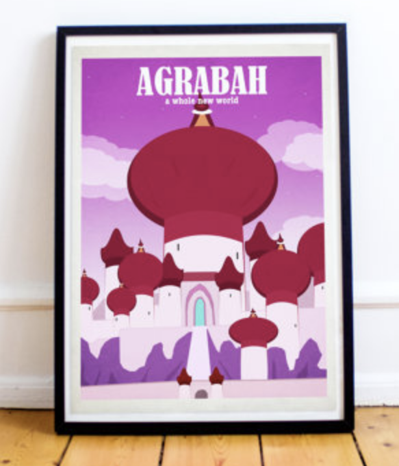 Disney Aladdin poster Agrabah