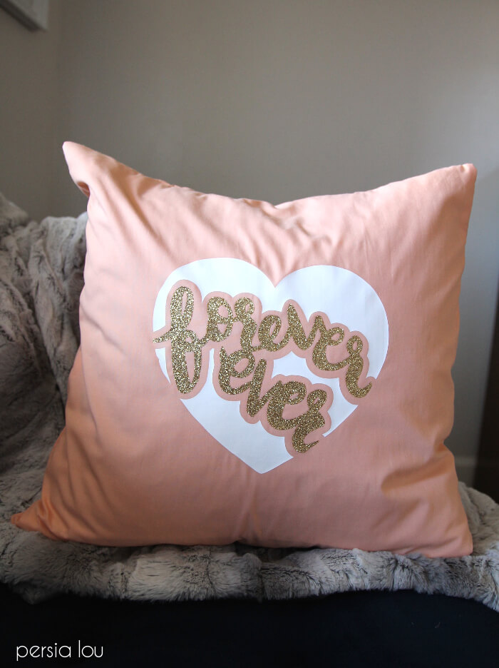 Valentine S Day Forever Ever Pillow Tutorial Free Svg