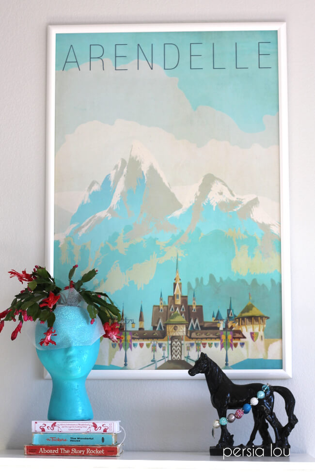 Nice I love the look of retro travel posters and it is a great way to bine beautiful design with a film or character you or your children love