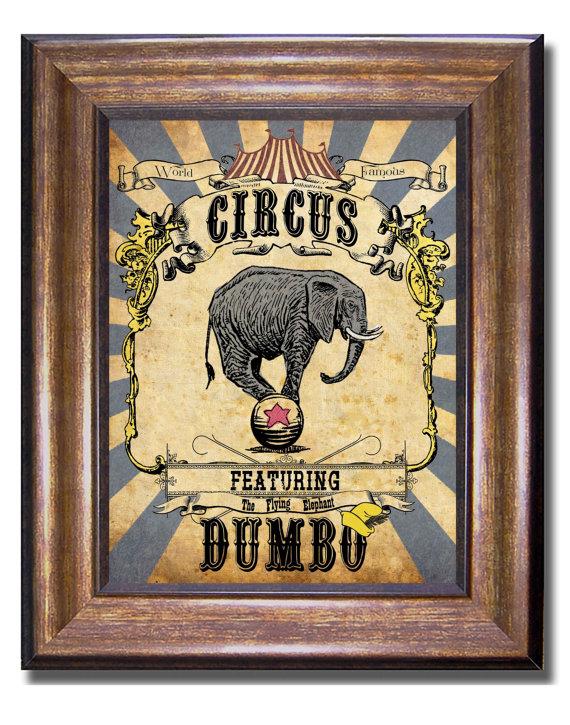 Dumbo Poster - Vintage Disney Poster