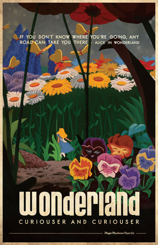 where to find vintage style disney travel posters persia lou. Black Bedroom Furniture Sets. Home Design Ideas