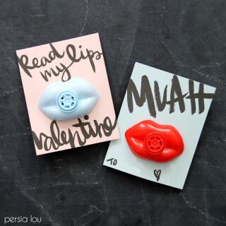 Free Printable Lip Valentines