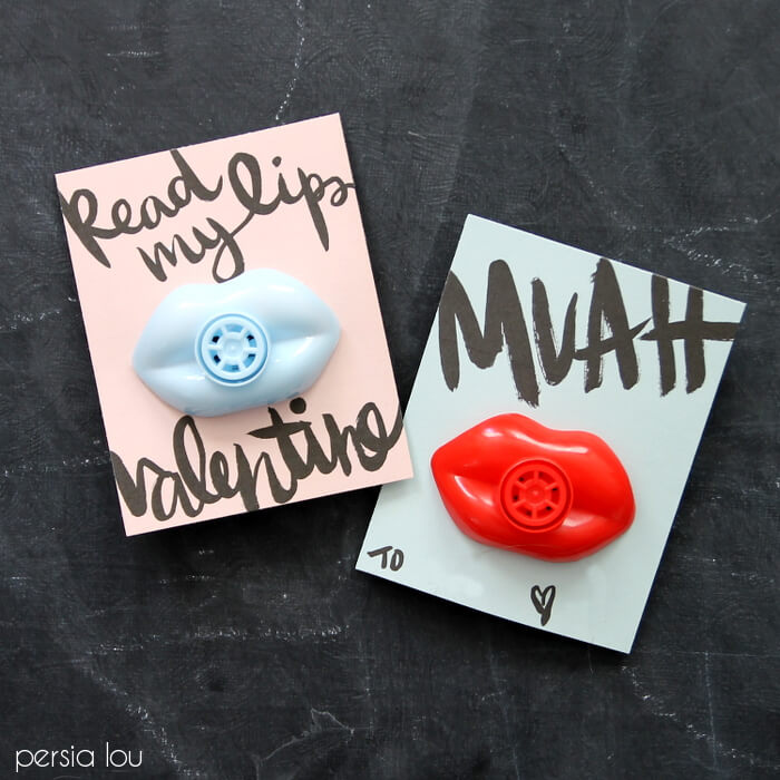 Free Printable Lip Valentines – Cute Non-Candy Treat