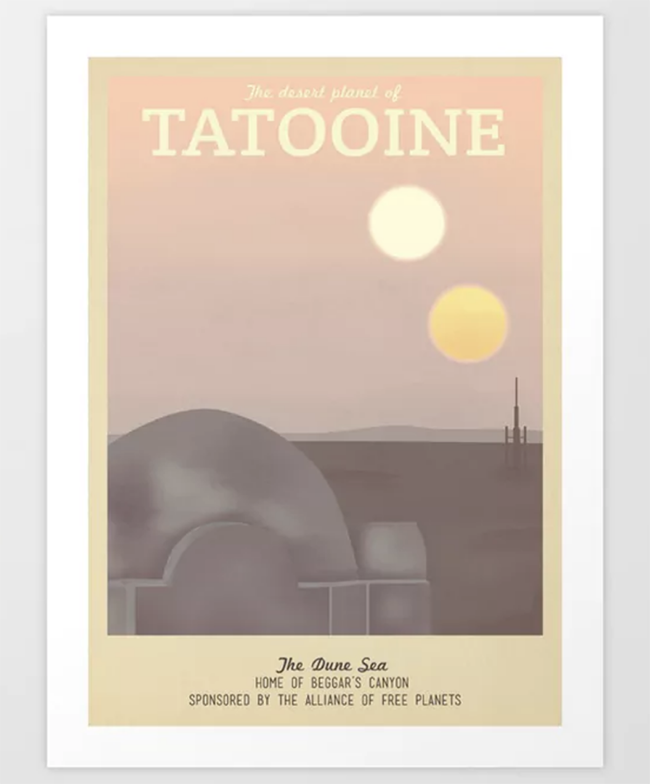 Star Wars Travel Poster - Tatooine