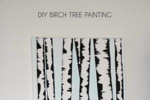 Birch Tree Painting at Darice