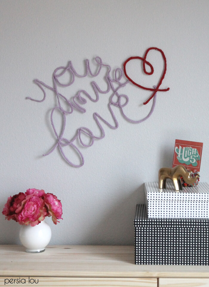 Crocheted Wire Lettering - Persia Lou