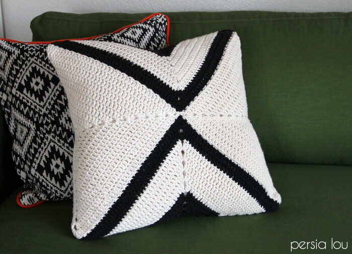 Modern X Crochet Pillow Pattern - Persia Lou