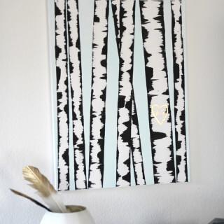 Make: DIY Birch Tree Art