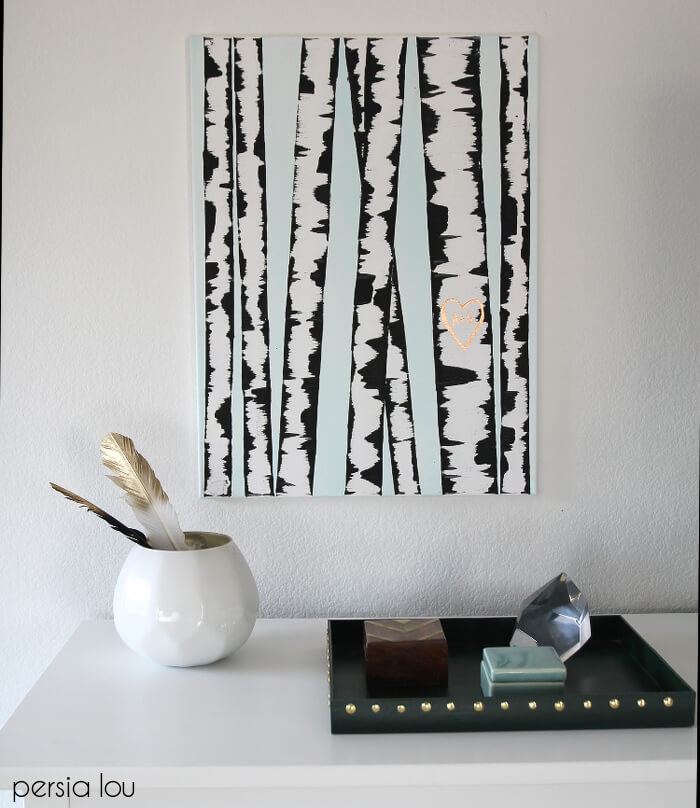 Make: DIY Birch Tree Art - Persia Lou