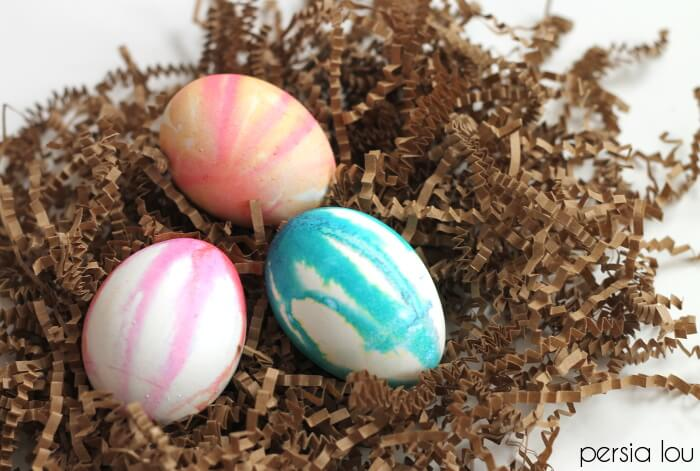 Watercolor Drip Dyed Easter Eggs