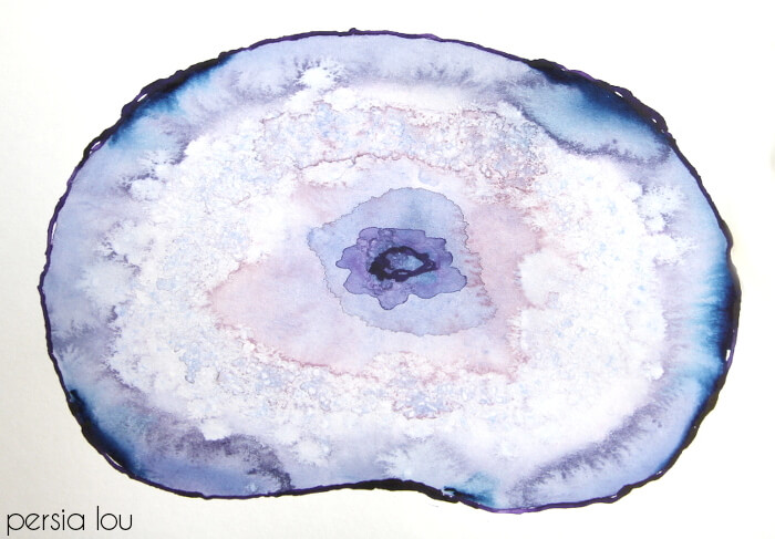 learn how to paint your own watercolor agate slices