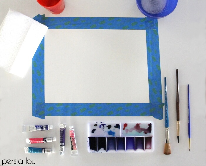 picture relating to Free Printable Watercolor Pictures to Paint identified as How in the direction of Paint Watercolor Agate Slices + Free of charge Printables