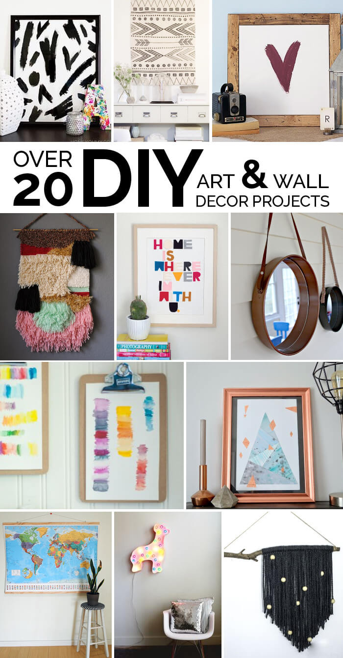 Easy diy art ideas and wall decor projects persia lou for Diy wall decor projects