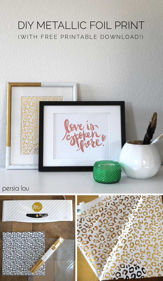 Learn how to make your own gold foil prints with the Heidi Swapp Minc.