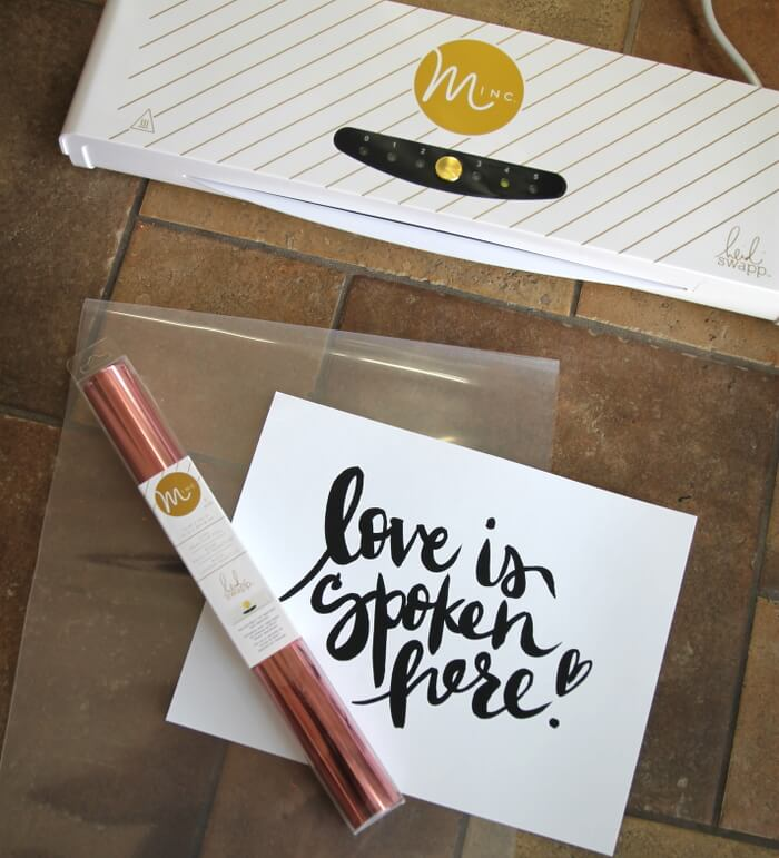 Learn how to make beautiful metallic foil prints with the Heidi Swapp Minc