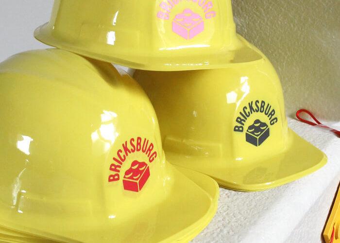 DIY Lego Movie Construction Party Hats