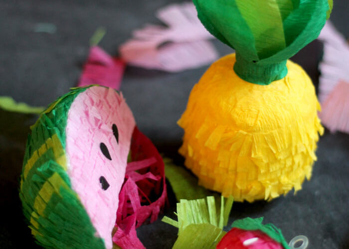 DIY Mini Fruit Faux Piñata Garland