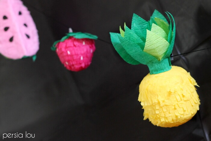 DIY Mini Fruit Faux Pinata Garland