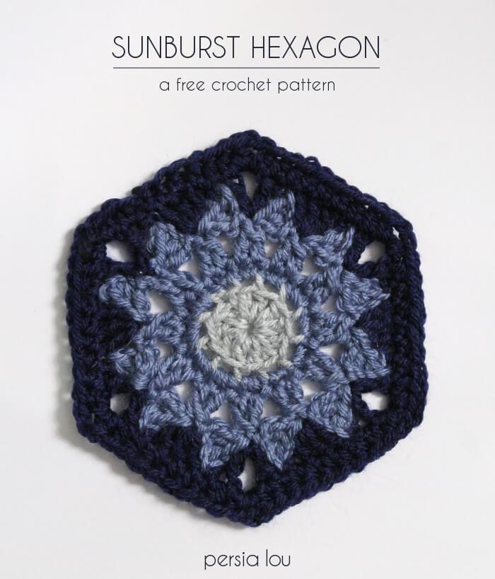 Sunburst Hexagon - free crochet pattern