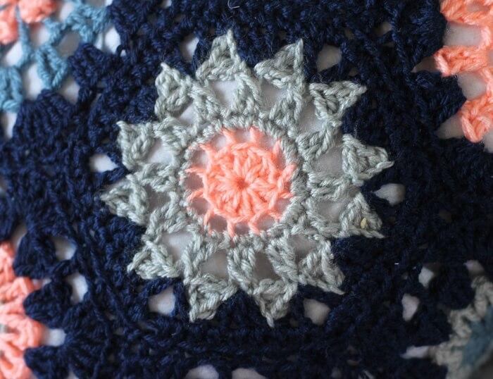 Sunburst Crochet Hexagon Pattern Persia Lou