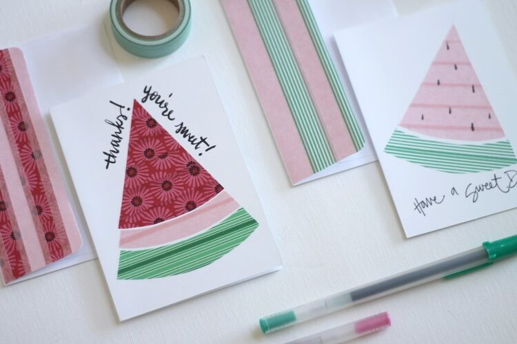 Watermelon Washi Tape Cards at Darice