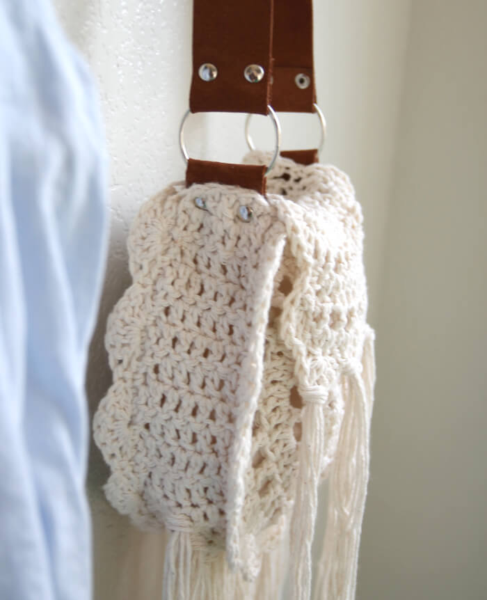 boho tassel crochet bag 4