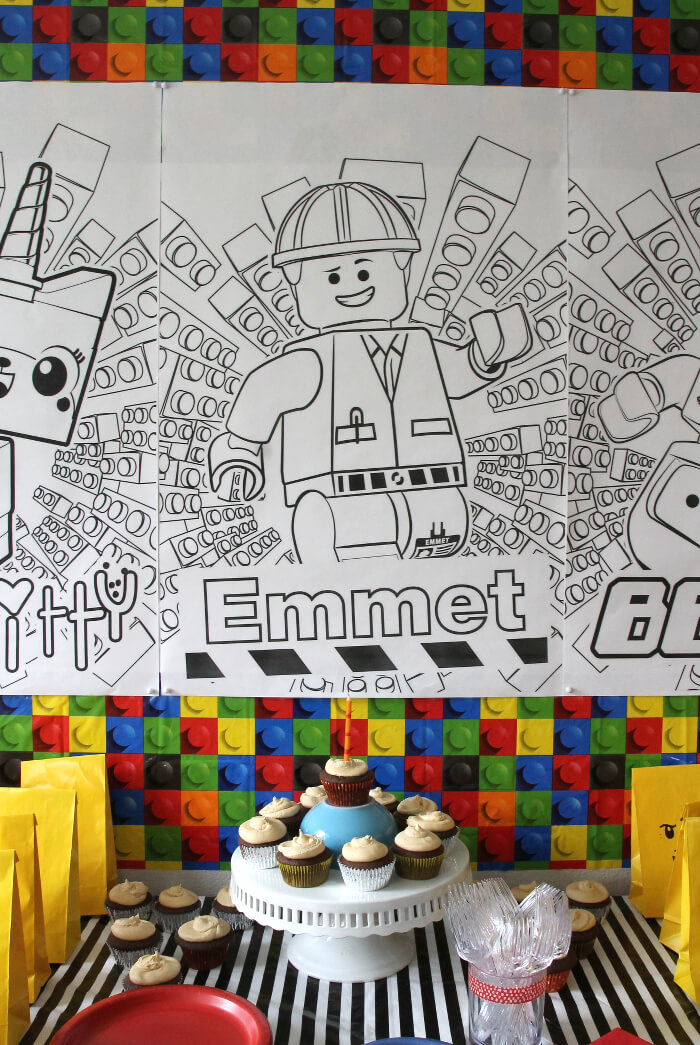 How to throw a simple Lego Movie party! Fun find the piece of resistance game.