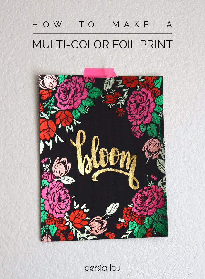 Make multi-colored metallic foil prints using the Heidi Swapp Minc