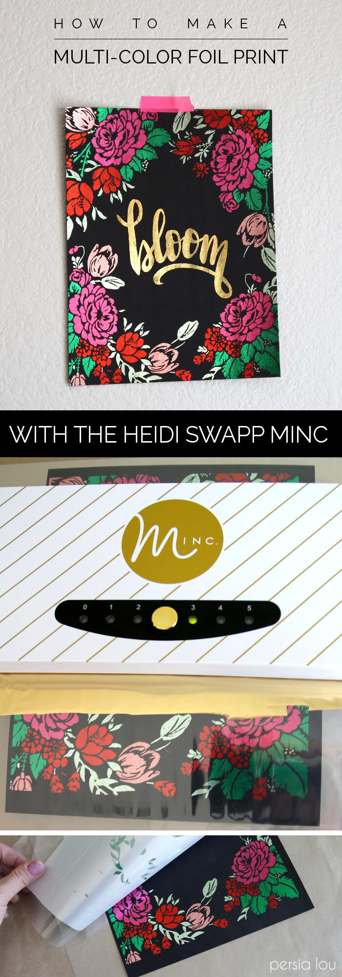 Wow! Make multi-colored metallic foil prints with the Heidi Swapp Minc. Complete instructions plus free download.