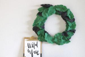 Crepe Paper Banana Leaf Wreath at Darice