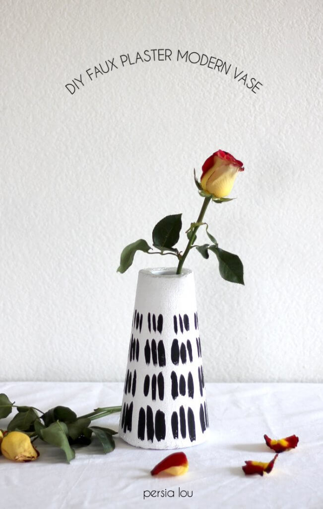 DIY Modern Faux Plaster Vase